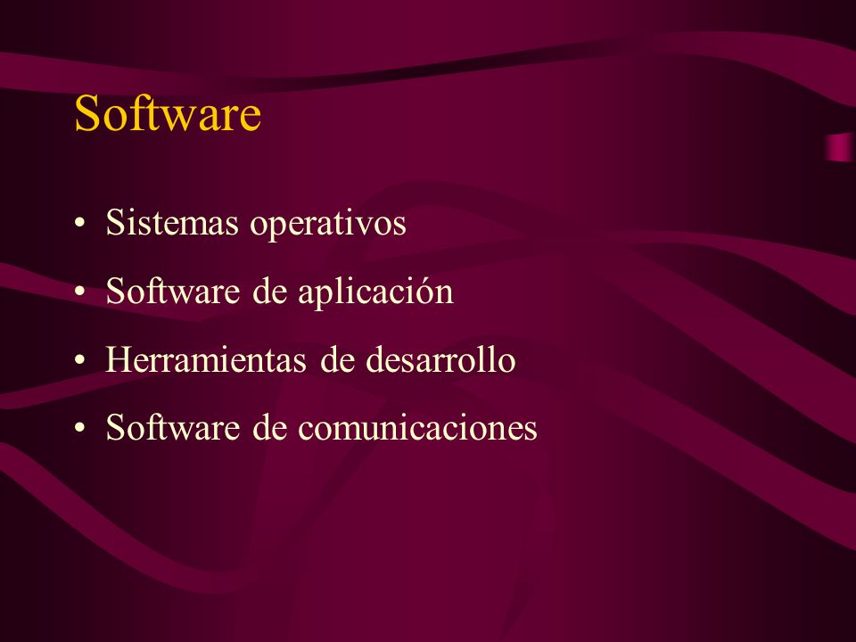 Software Sistemas operativos Software de aplicación