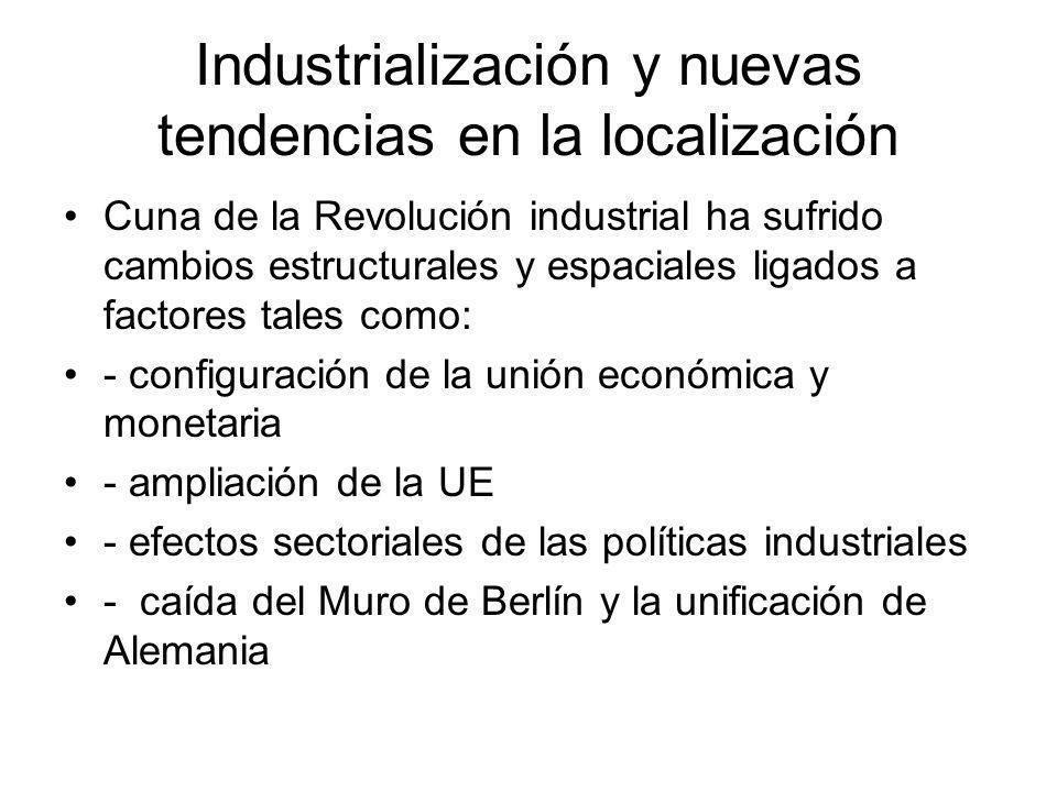 Industrialización y nuevas tendencias en la localización