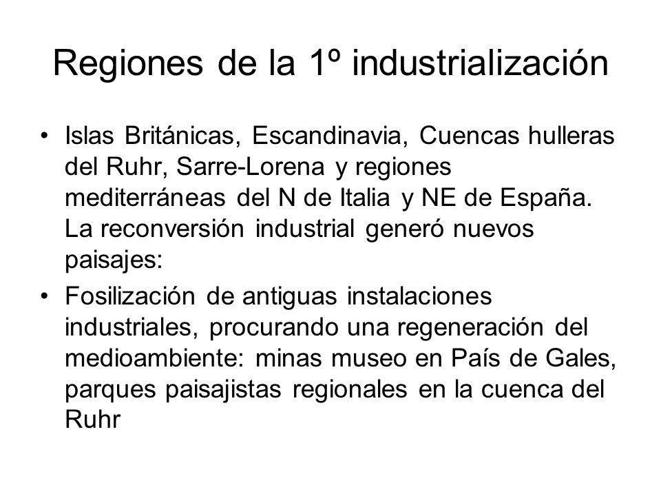 Regiones de la 1º industrialización