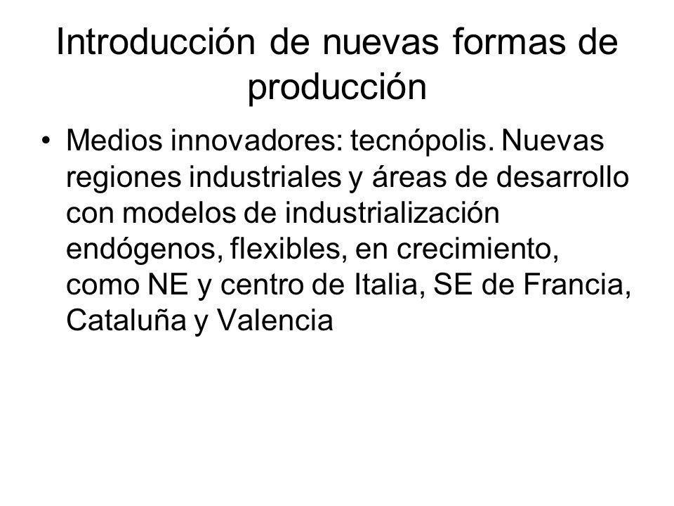 Introducción de nuevas formas de producción