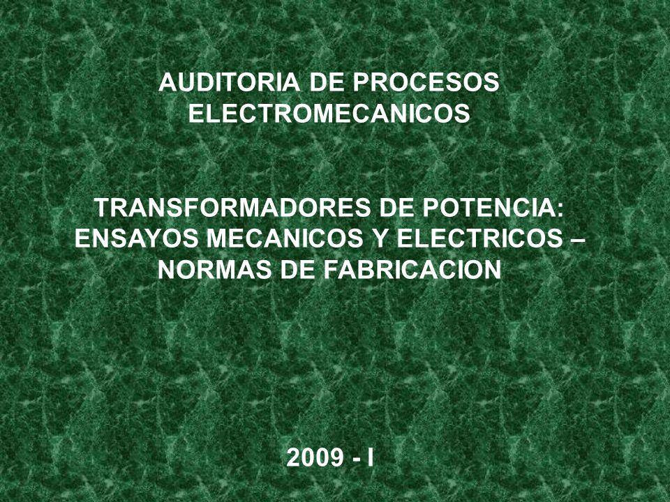 AUDITORIA DE PROCESOS ELECTROMECANICOS