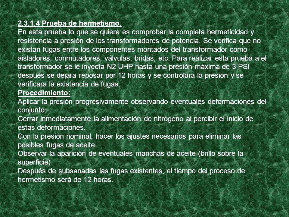 2.3.1.4 Prueba de hermetismo.