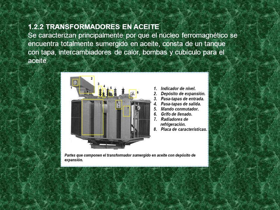1.2.2 TRANSFORMADORES EN ACEITE