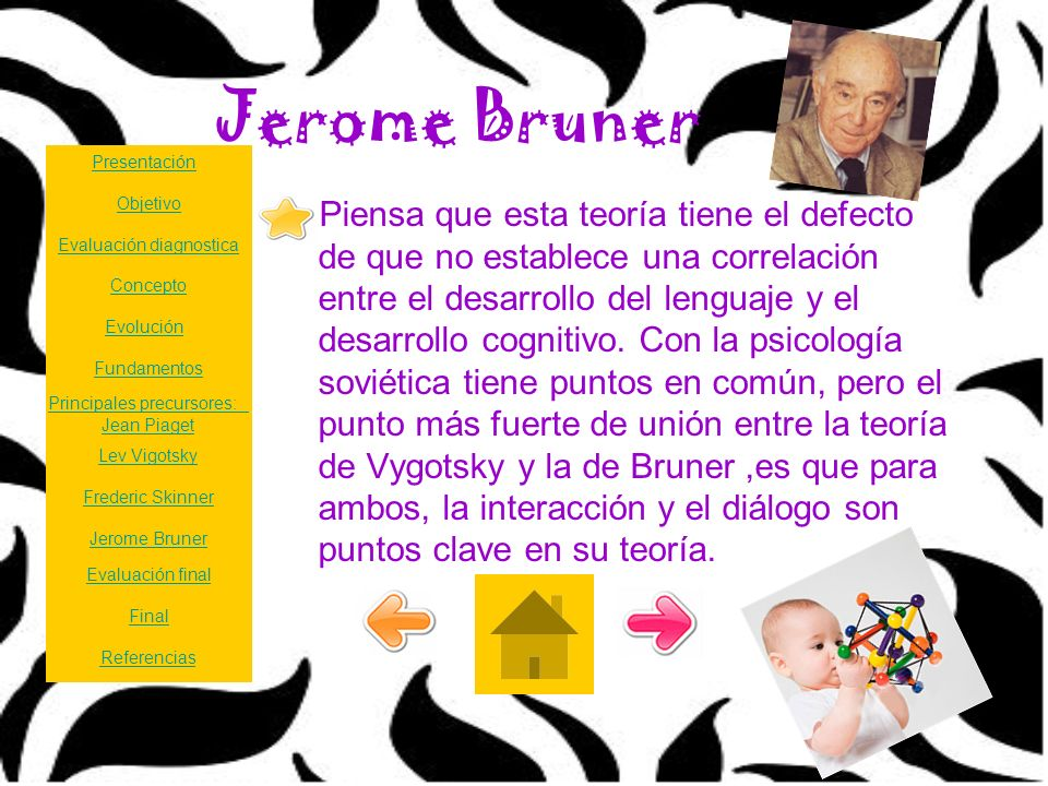 Jerome Bruner Presentación. Objetivo.