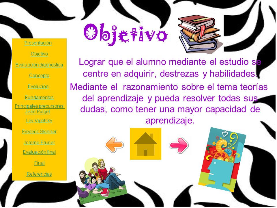 Objetivo Presentación. Objetivo. Lograr que el alumno mediante el estudio se centre en adquirir, destrezas y habilidades.