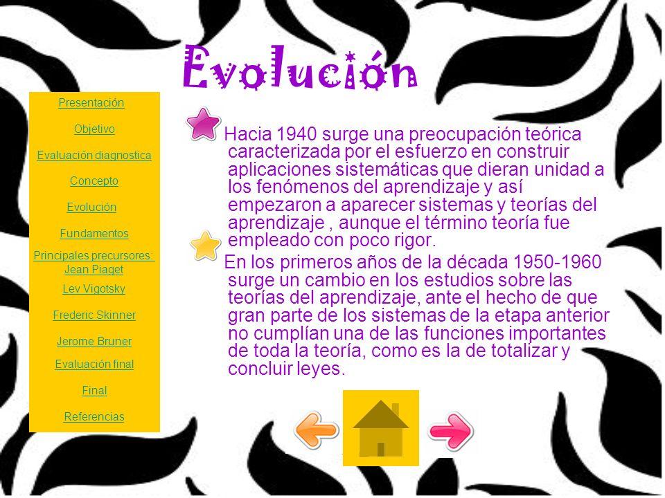Evolución Presentación. Objetivo.
