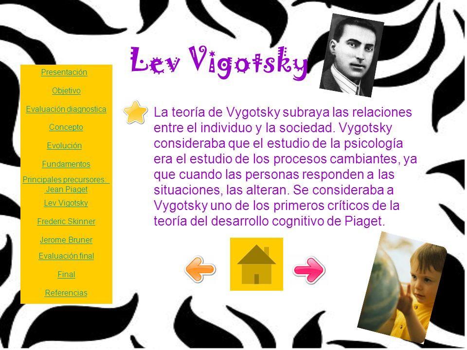 Lev Vigotsky Presentación. Objetivo. Evaluación diagnostica.