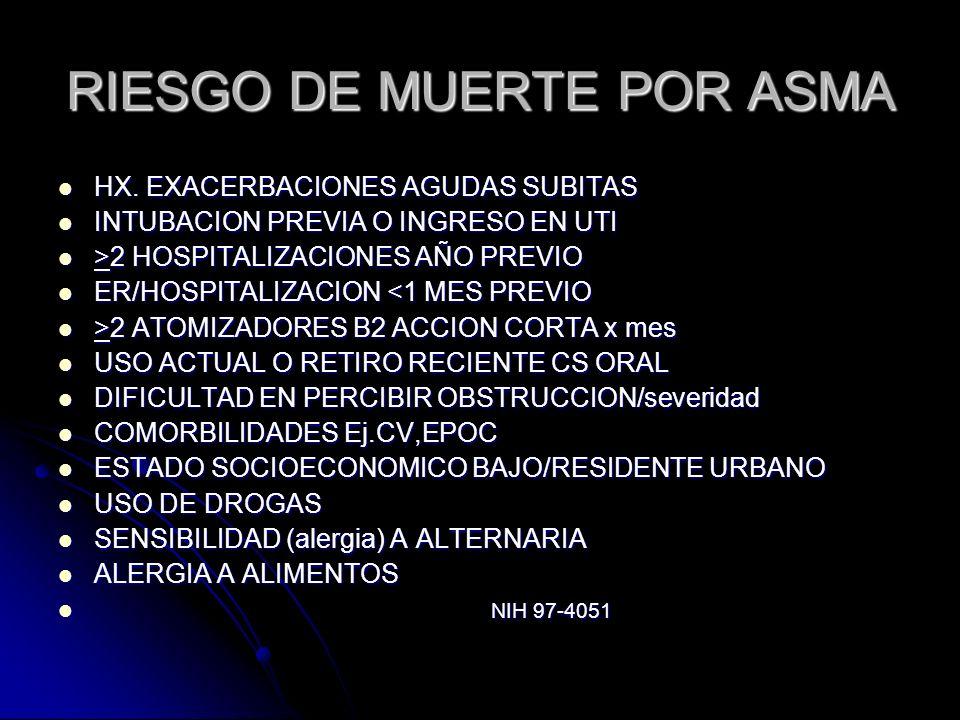 RIESGO DE MUERTE POR ASMA