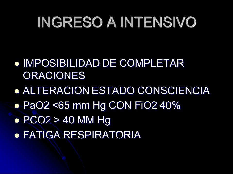 INGRESO A INTENSIVO IMPOSIBILIDAD DE COMPLETAR ORACIONES