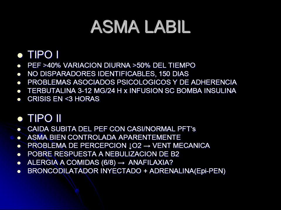 ASMA LABIL TIPO I TIPO II