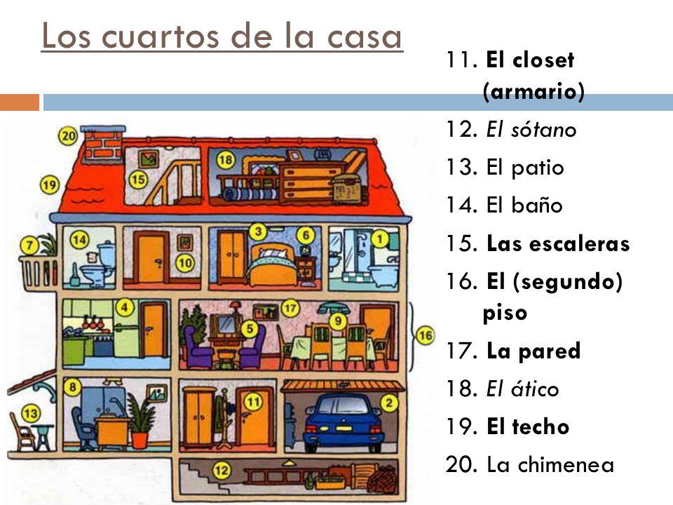 Los cuartos de la casa