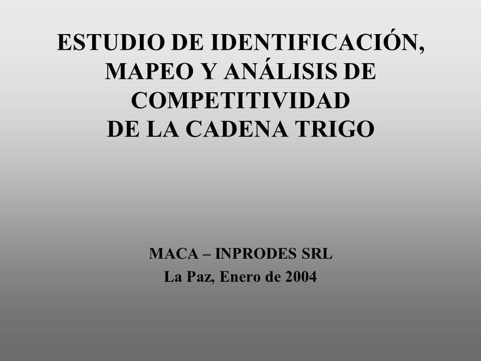 MACA – INPRODES SRL La Paz, Enero de 2004