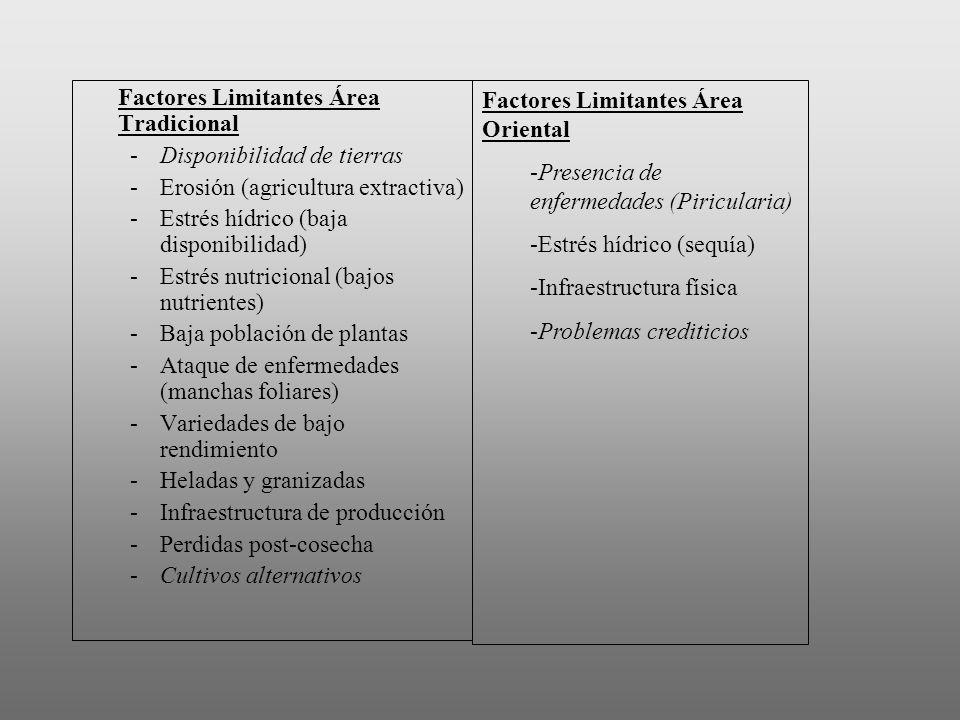 Factores Limitantes Área Tradicional