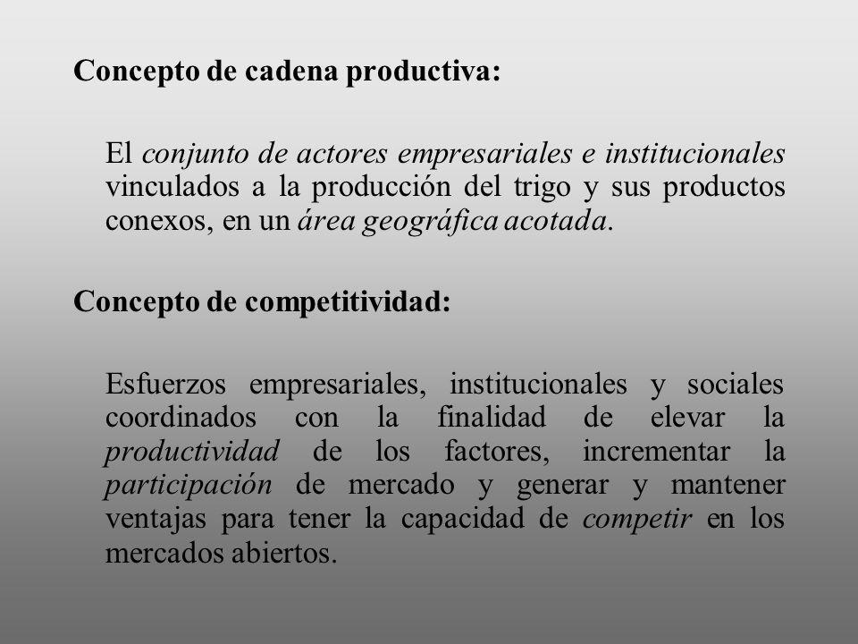 Concepto de cadena productiva: