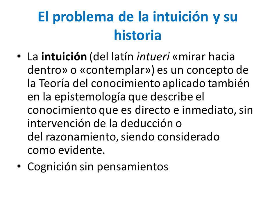 El problema de la intuición y su historia