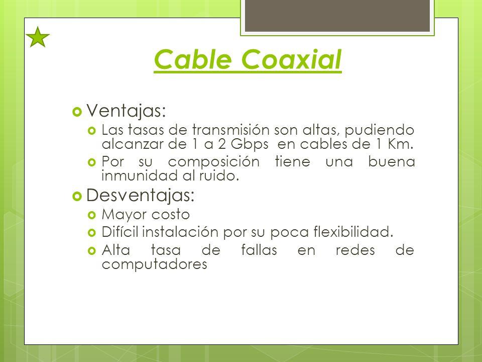 Cable Coaxial Ventajas: Desventajas: