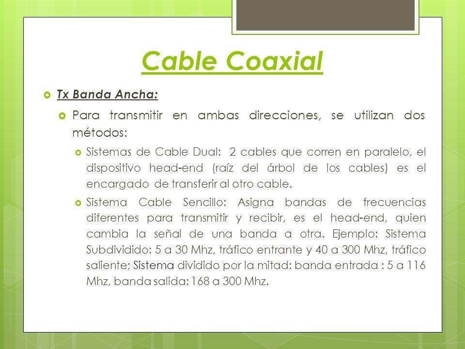 Cable Coaxial Tx Banda Ancha: