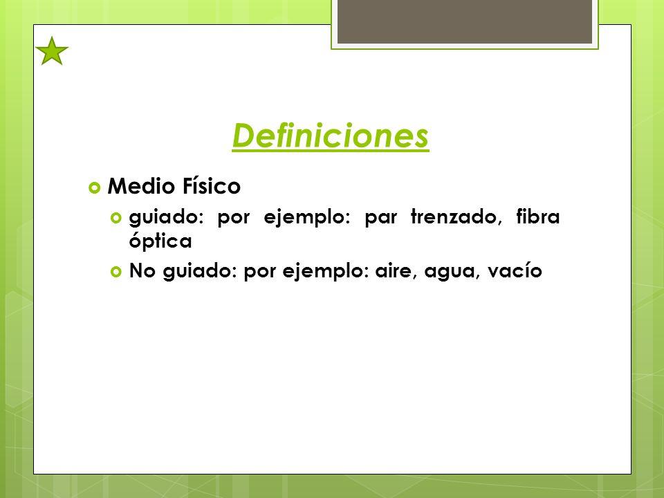 Definiciones Medio Físico