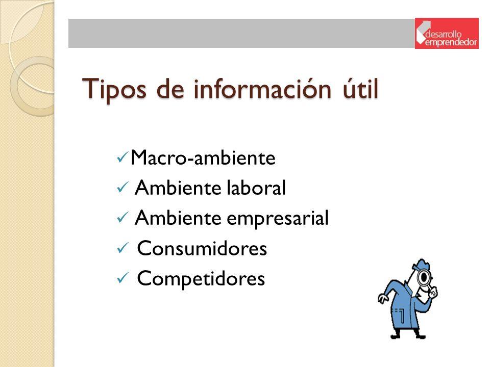 Tipos de información útil