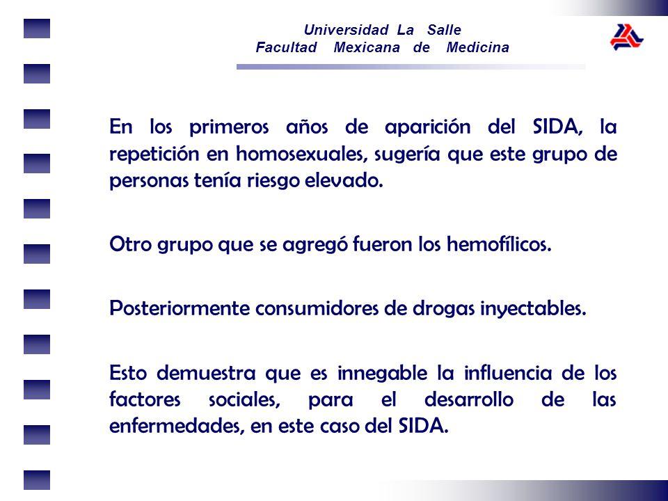 En los primeros años de aparición del SIDA, la repetición en homosexuales, sugería que este grupo de personas tenía riesgo elevado.