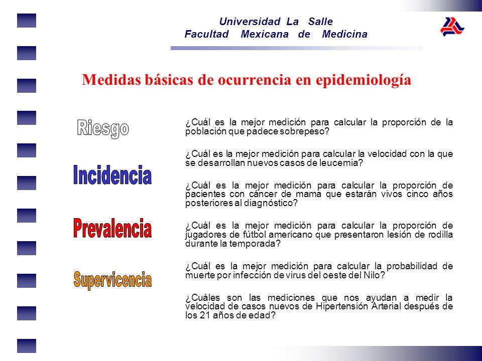 Medidas básicas de ocurrencia en epidemiología