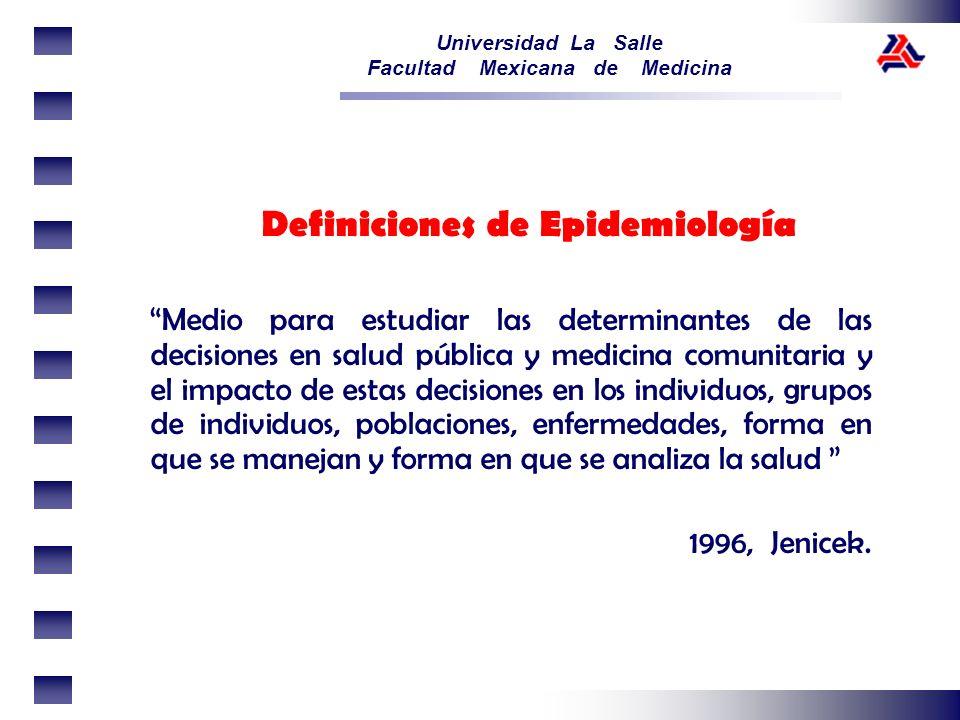 Definiciones de Epidemiología
