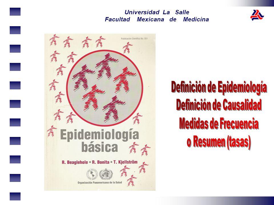 Definición de Epidemiología Definición de Causalidad