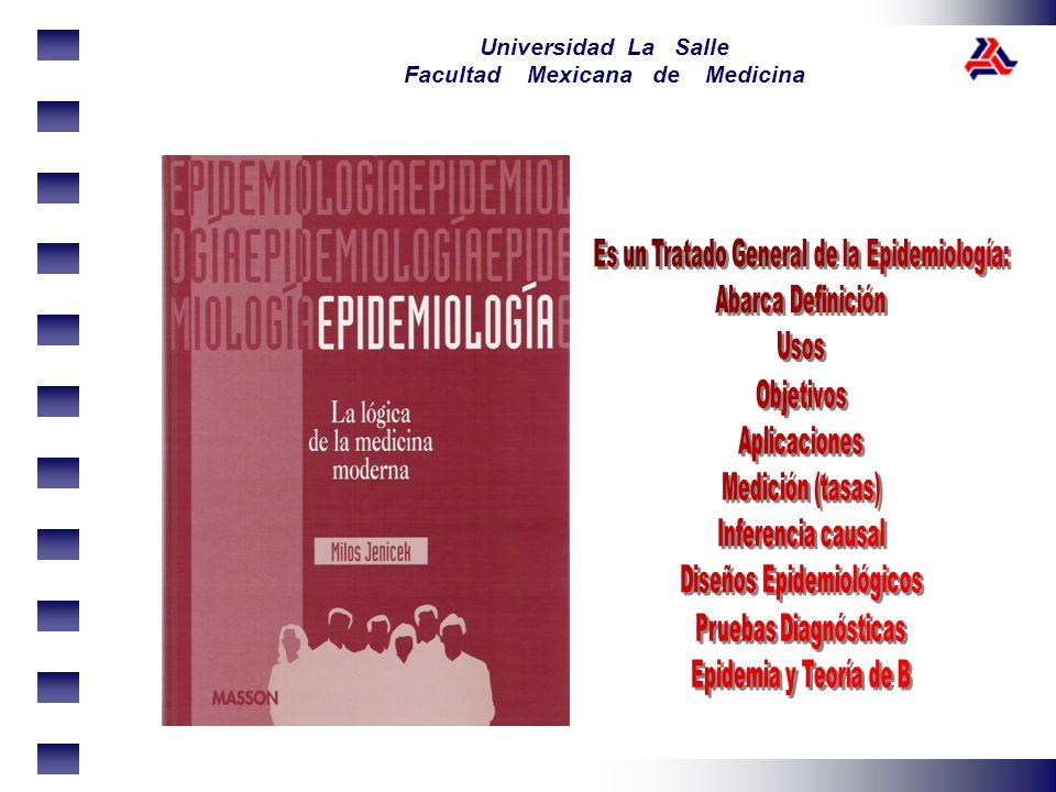 Es un Tratado General de la Epidemiología: Diseños Epidemiológicos