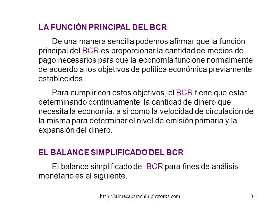 LA FUNCIÓN PRINCIPAL DEL BCR