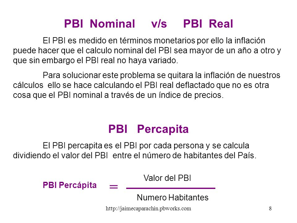 PBI Nominal v/s PBI Real