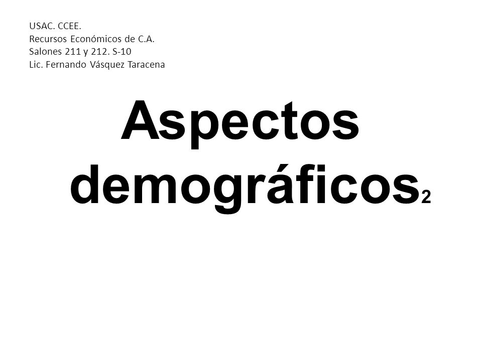 Aspectos demográficos2