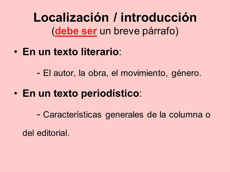 Localización / introducción (debe ser un breve párrafo)