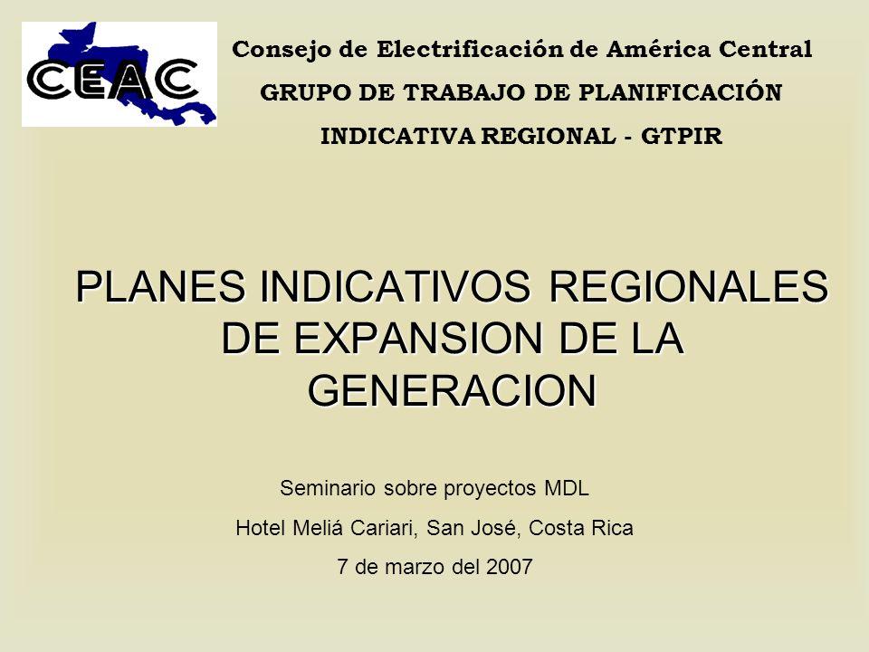 PLANES INDICATIVOS REGIONALES DE EXPANSION DE LA GENERACION