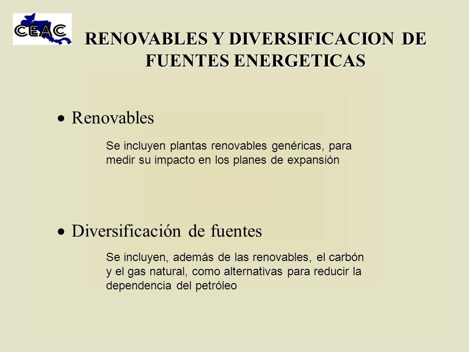 RENOVABLES Y DIVERSIFICACION DE FUENTES ENERGETICAS