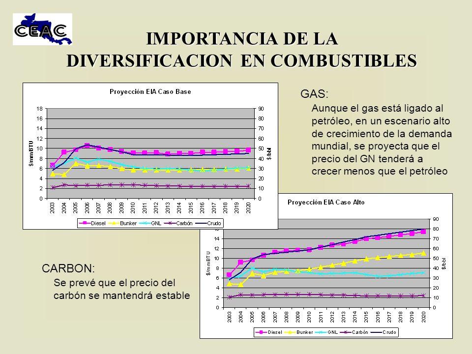 IMPORTANCIA DE LA DIVERSIFICACION EN COMBUSTIBLES