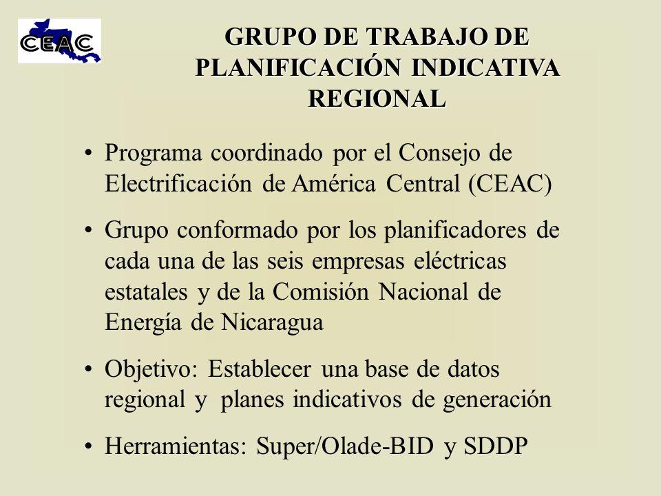 GRUPO DE TRABAJO DE PLANIFICACIÓN INDICATIVA REGIONAL