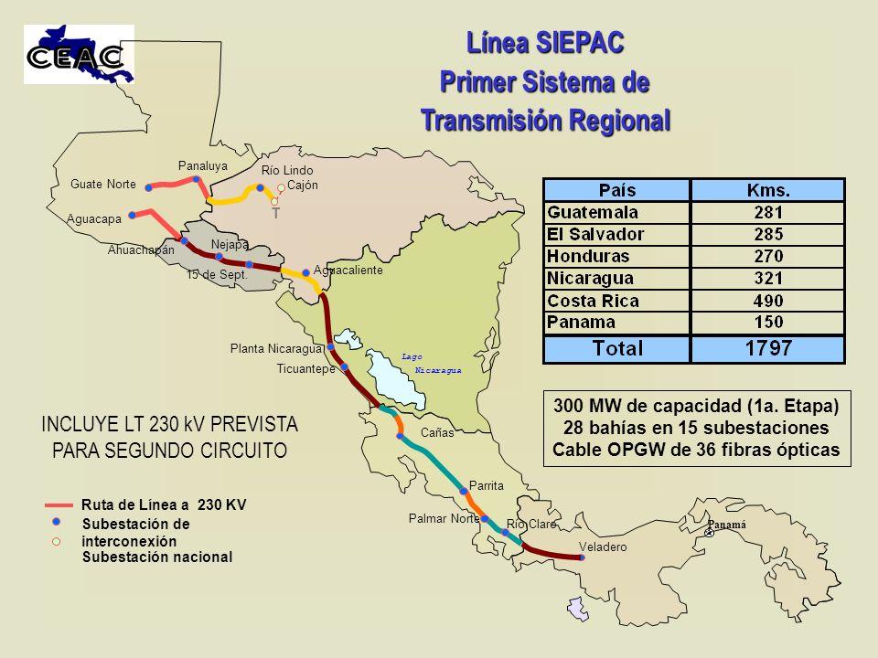 Línea SIEPAC Primer Sistema de Transmisión Regional