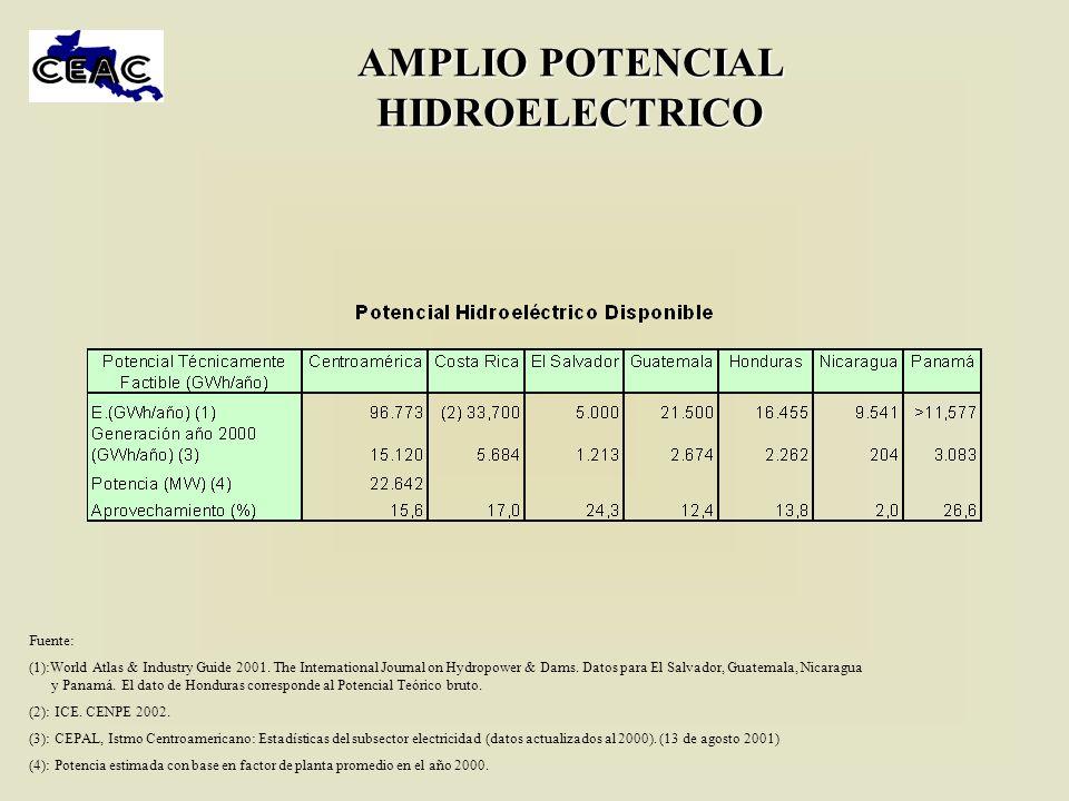 AMPLIO POTENCIAL HIDROELECTRICO