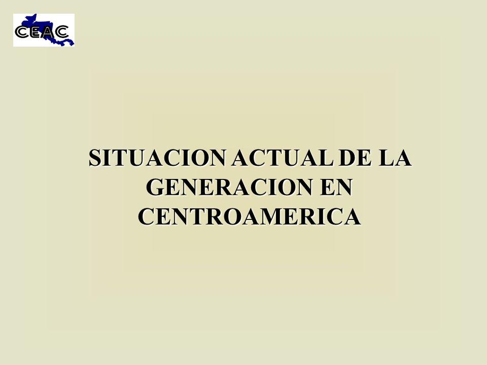 SITUACION ACTUAL DE LA GENERACION EN CENTROAMERICA