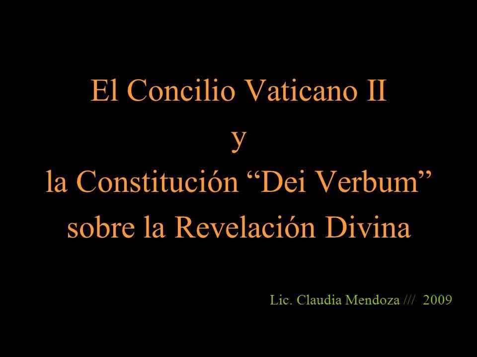 El Concilio Vaticano II y la Constitución Dei Verbum