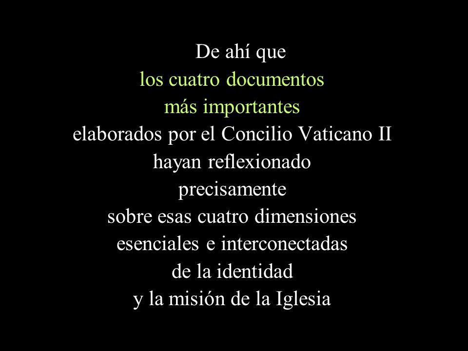elaborados por el Concilio Vaticano II hayan reflexionado precisamente