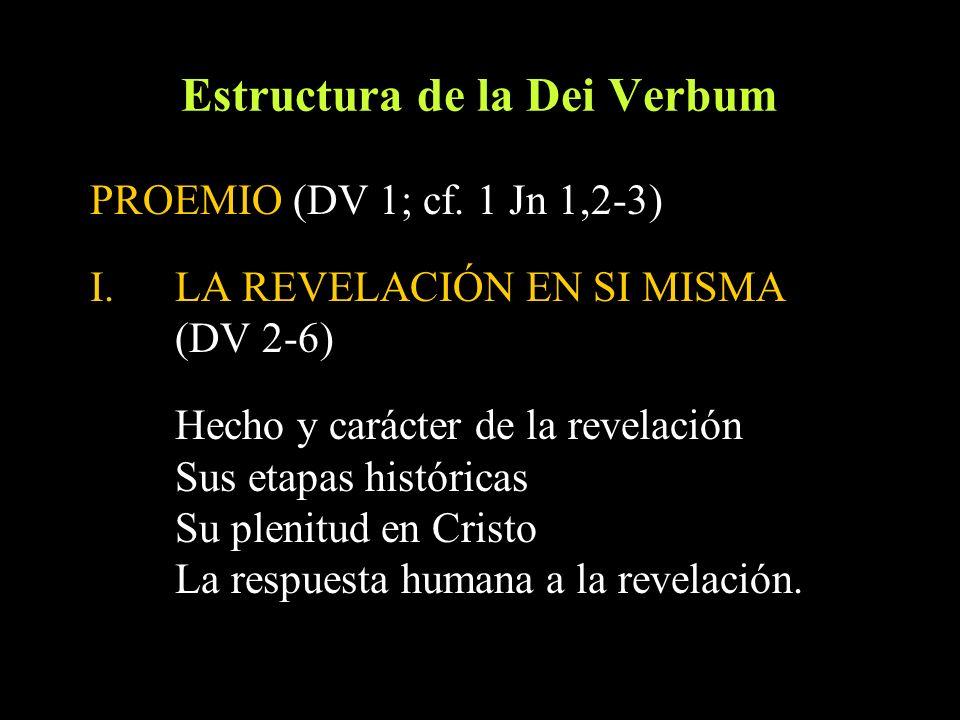 Estructura de la Dei Verbum