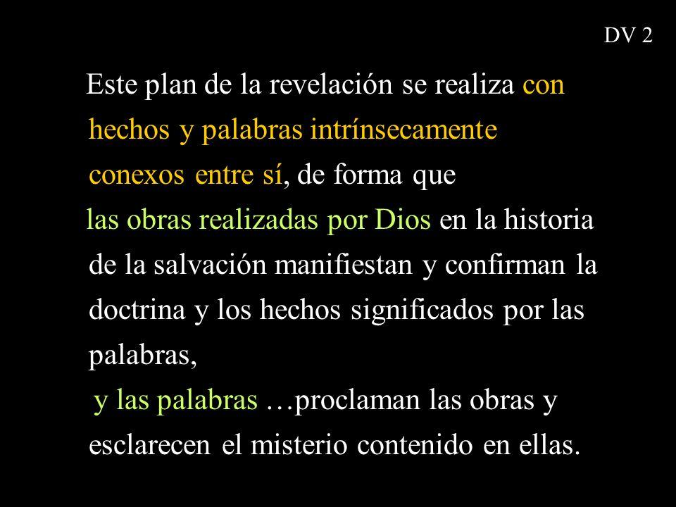 DV 2 Este plan de la revelación se realiza con hechos y palabras intrínsecamente conexos entre sí, de forma que.