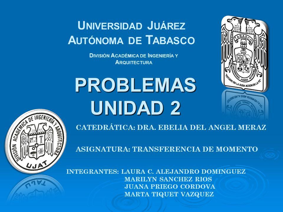 PROBLEMAS UNIDAD 2 Universidad Juárez Autónoma de Tabasco