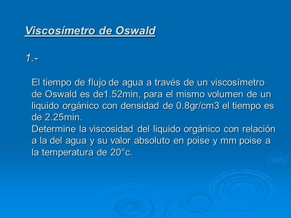 Viscosímetro de Oswald 1.-