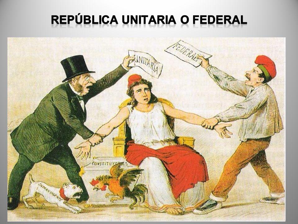 REPÚBLICA UNITARIA O FEDERAL