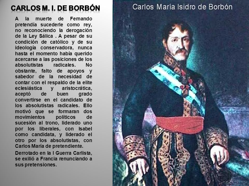 CARLOS M. I. DE BORBÓN