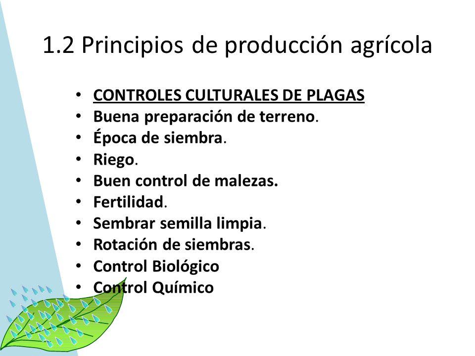 1.2 Principios de producción agrícola