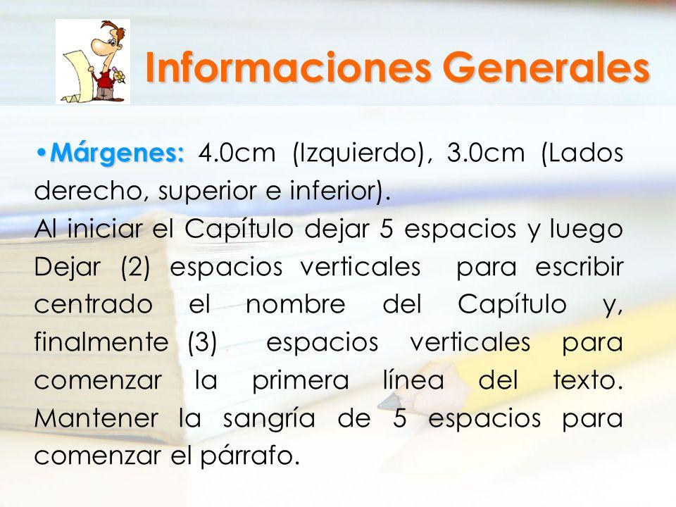 Informaciones Generales