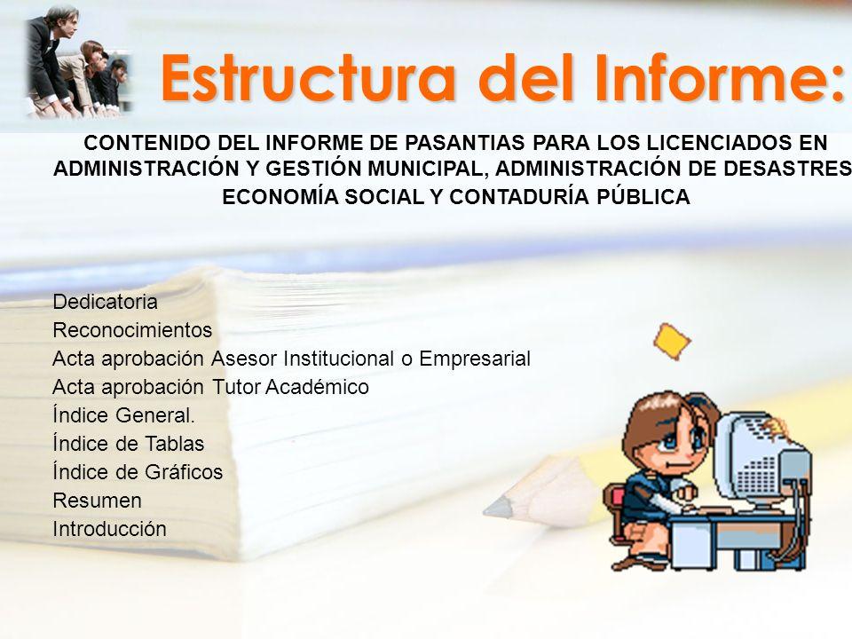 Estructura del Informe: